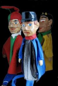 classic wooden head glove puppets